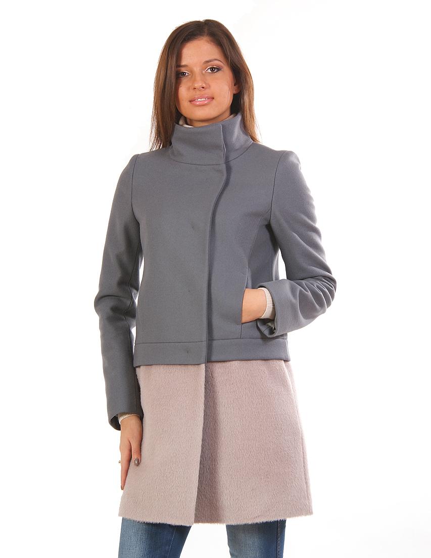 Купить Пальто, PATRIZIA PEPE, Серый, 67%Шерсть 18%Лана 15%Полиамид, Осень-Зима