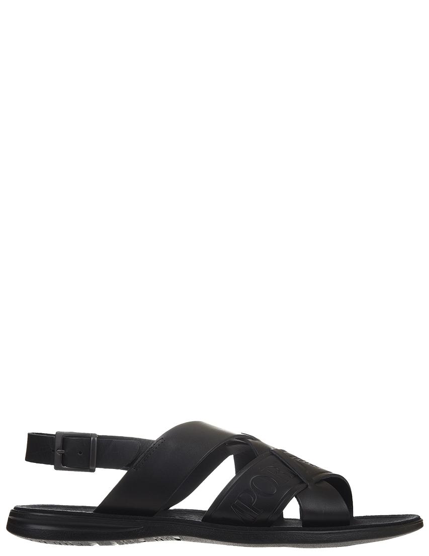 Мужские сандалии Emporio Armani 061-logo_black