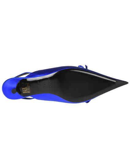 женские синие текстильные Босоножки Balenciaga 500618-4130_blue - фото-5