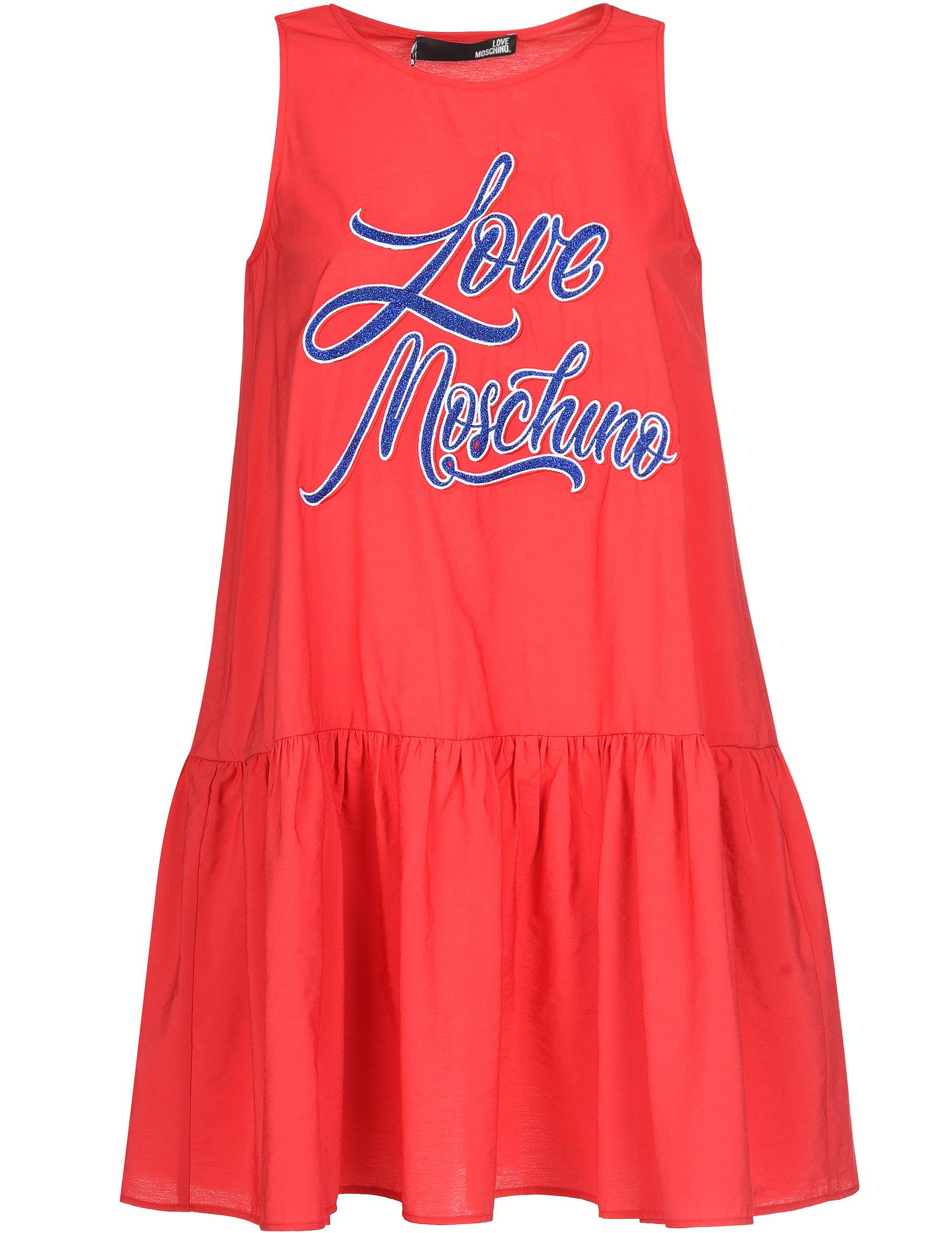 Купить Платье, LOVE MOSCHINO, Красный, 85%Вискоза 15%Полиамид, Весна-Лето