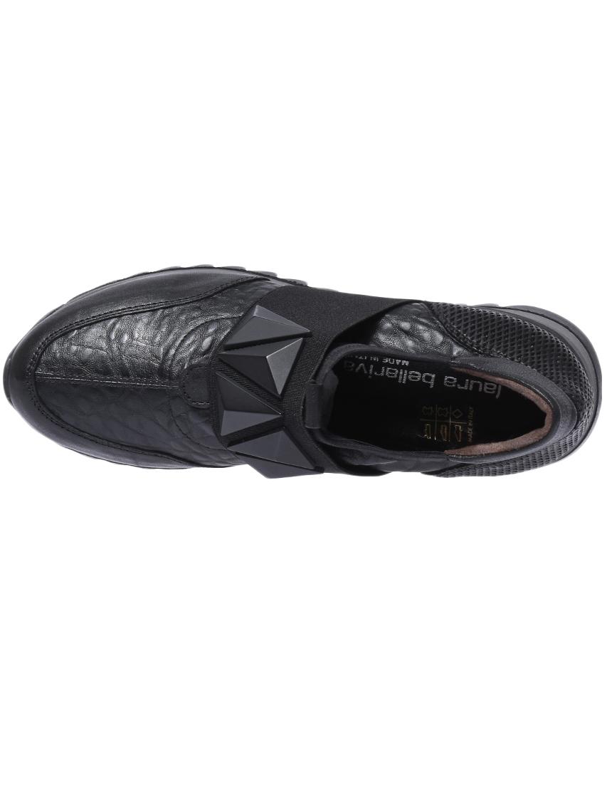 Кожаные чёрные кроссовки LAURA BELLARIVA (ITALY)