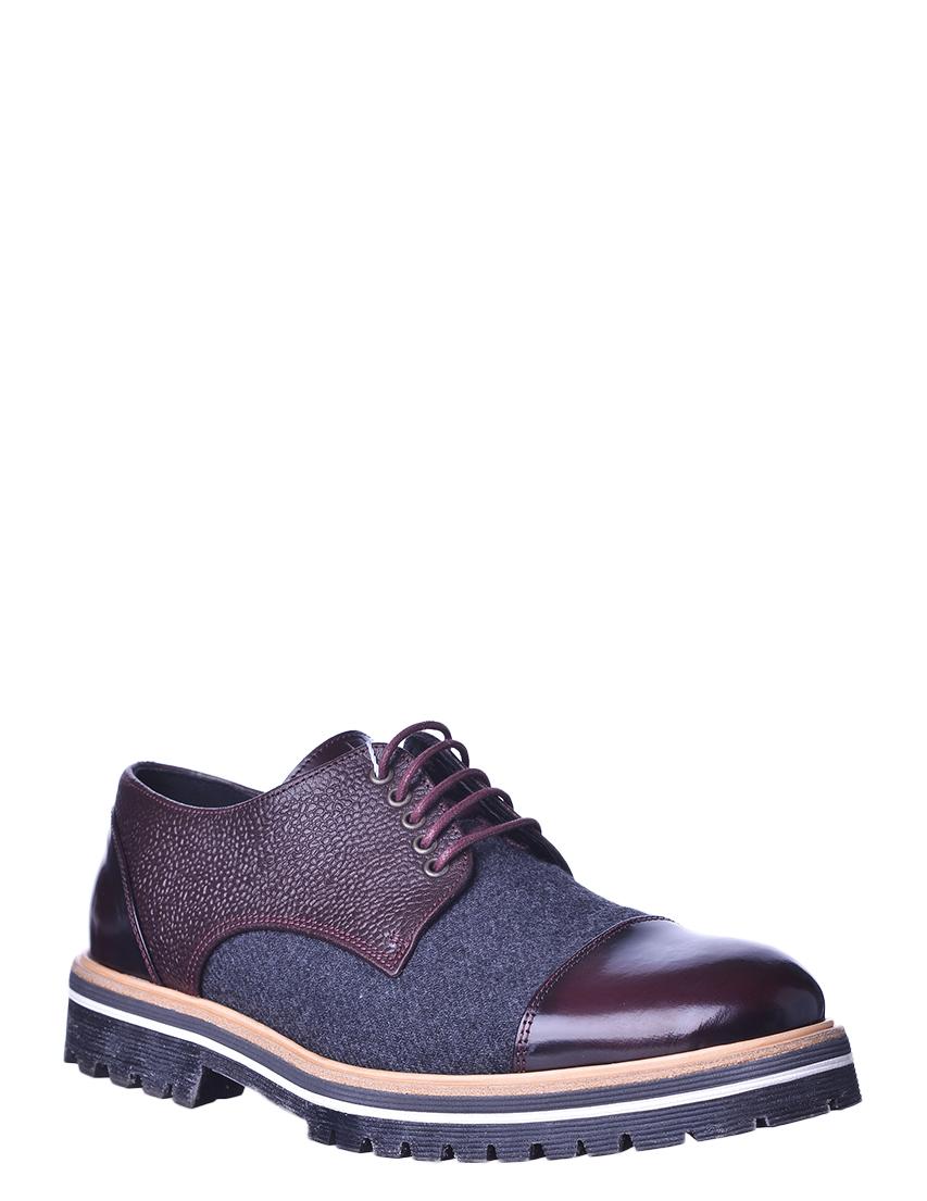 Купить Туфли, ARMANI COLLEZIONI, Бордовый, 100%Кожа, Осень-Зима