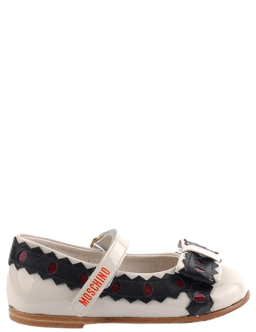 Детские туфли для девочек MOSCHINO 25355-beige