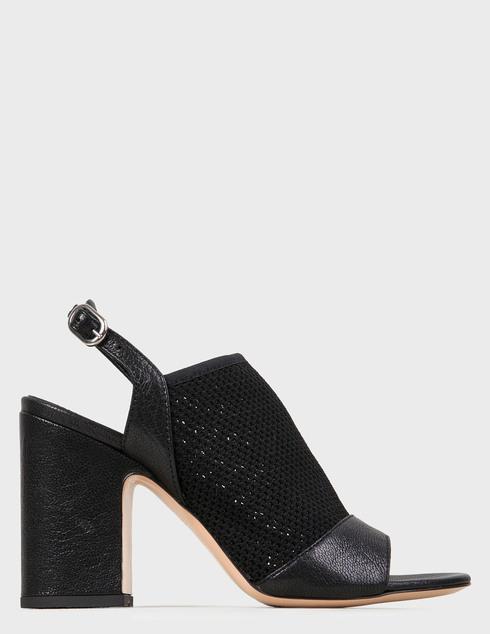 женские черные кожаные Босоножки Agl D654024BCR0033D003 - фото-5