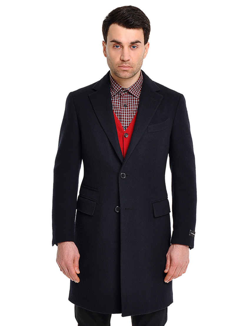 Купить Пальто, ERMENEGILDO ZEGNA, Черный, 100%Шерсть, Осень-Зима