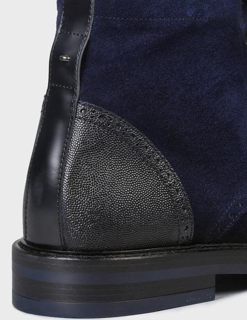 мужские синие замшевые Ботинки Brimarts 320800 - фото-5