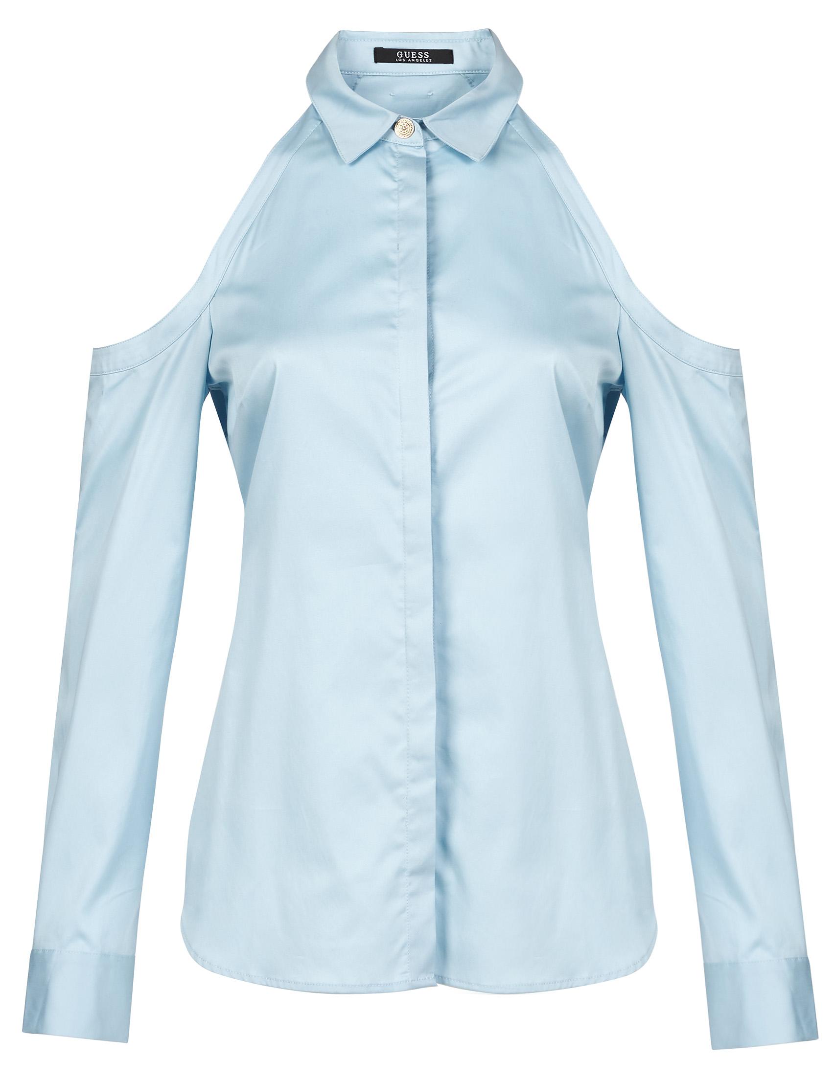 Купить Блузы, Блуза, GUESS, Голубой, 96%Хлопок 4%Эластан, Весна-Лето