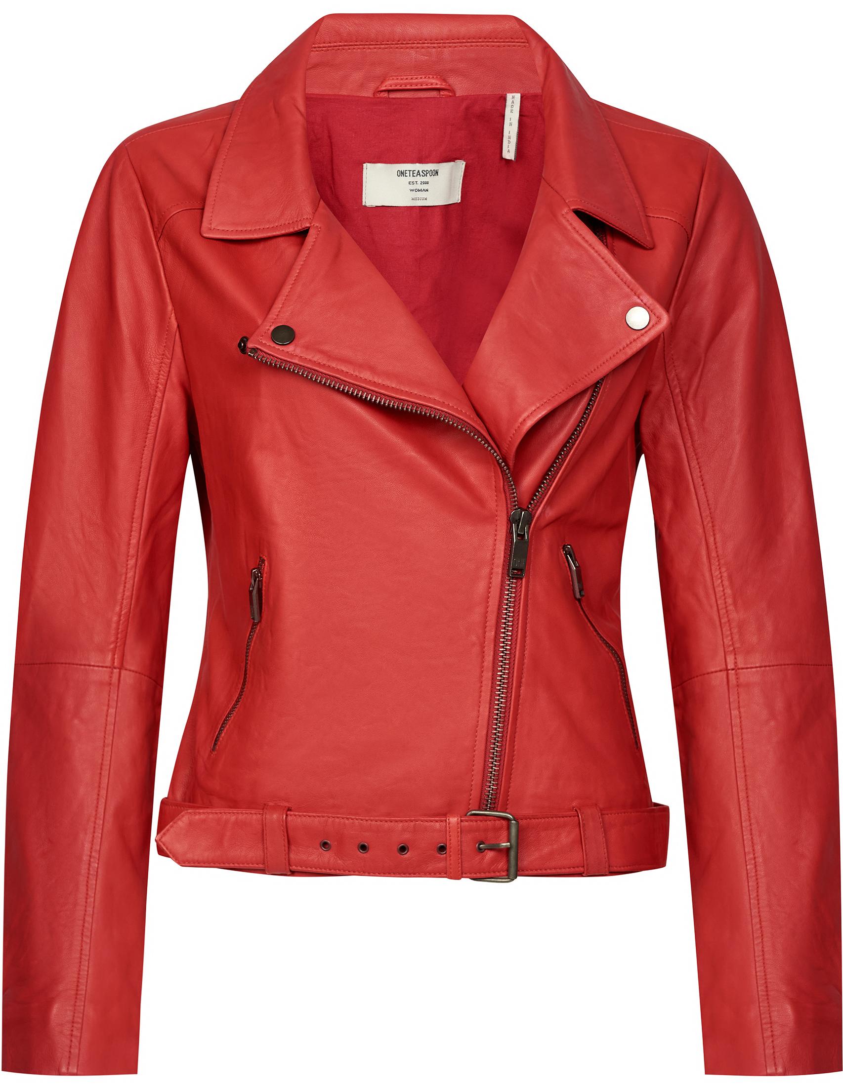 Купить Куртки, Куртка, ONETEASPOON, Красный, 100%Кожа, Весна-Лето