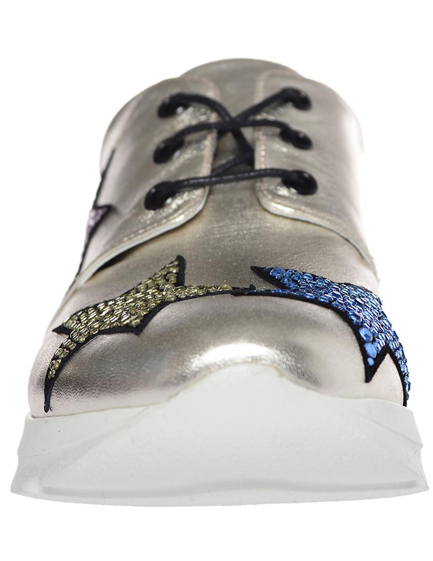 Кожаные золотые кроссовки ALBERTO GOZZI (ITALY)