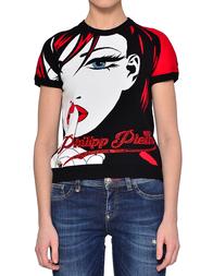 Женская футболка PHILIPP PLEIN 0019_black