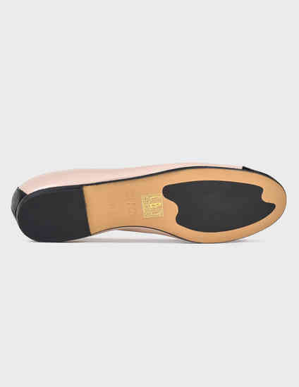 женские бежевые кожаные Балетки Luca Grossi 1001-beige - фото-5