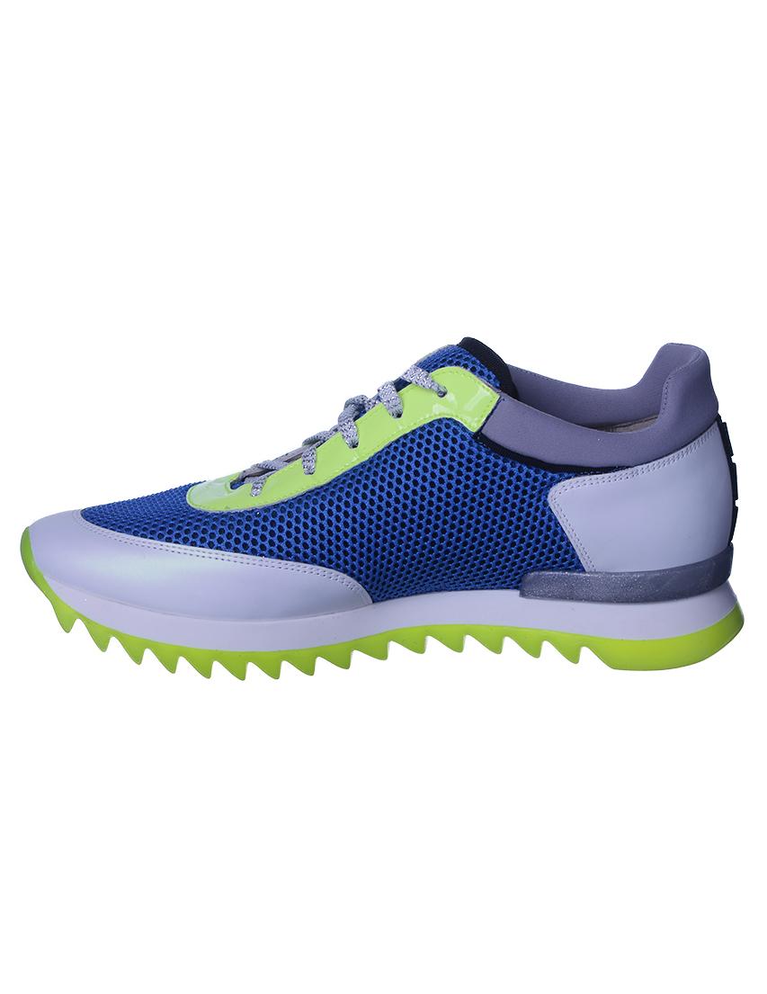 Текстильные синие кроссовки ALBERTO GOZZI (ITALY)