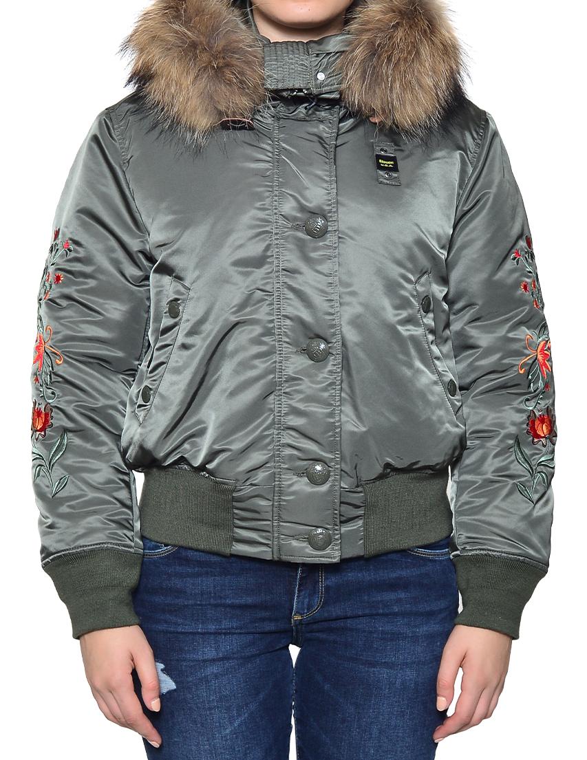 Куртка, BLAUER, Зеленый, 100%Нейлон; 100%Полиэстер, Осень-Зима  - купить со скидкой