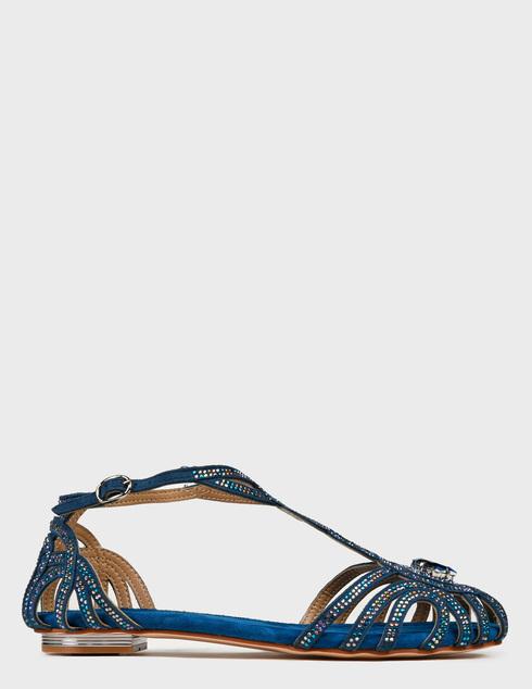 женские синие текстильные Сандалии Alma En Pena 104-blue - фото-5