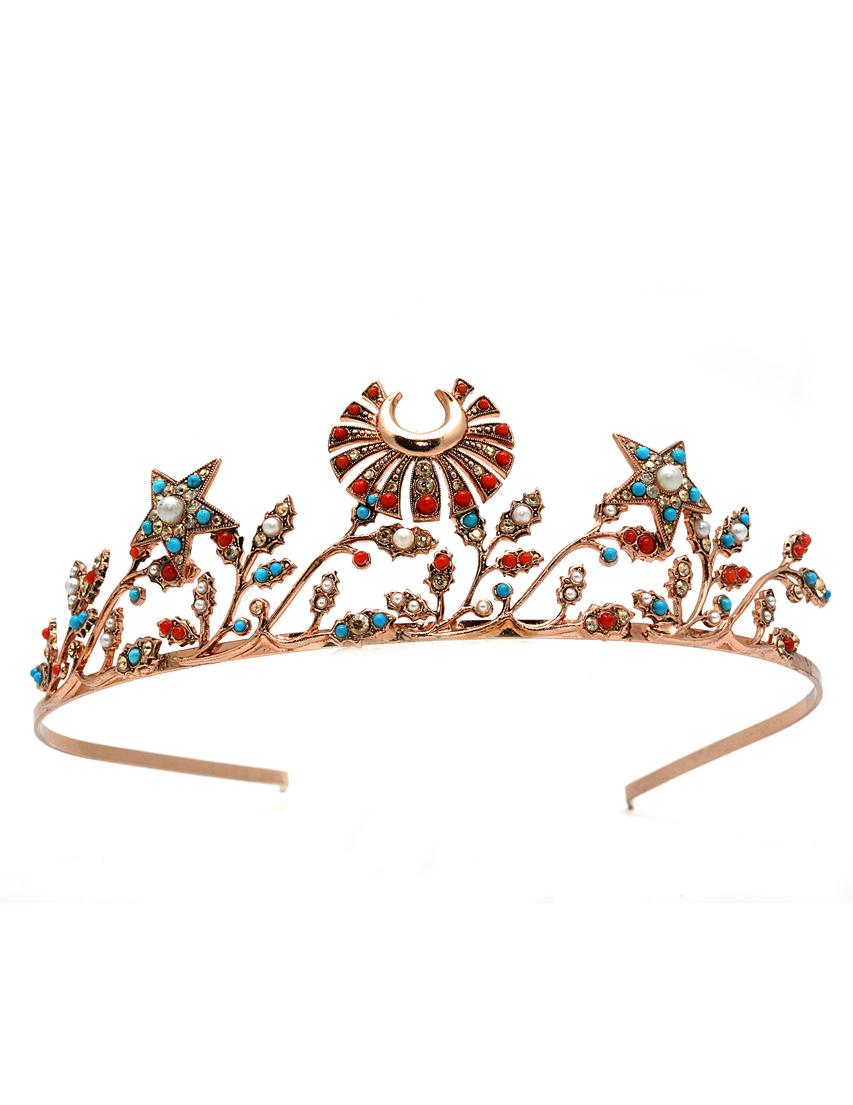 Купить Аксессуар для волос, AMARO, Красный, Латунь, Весна-Лето