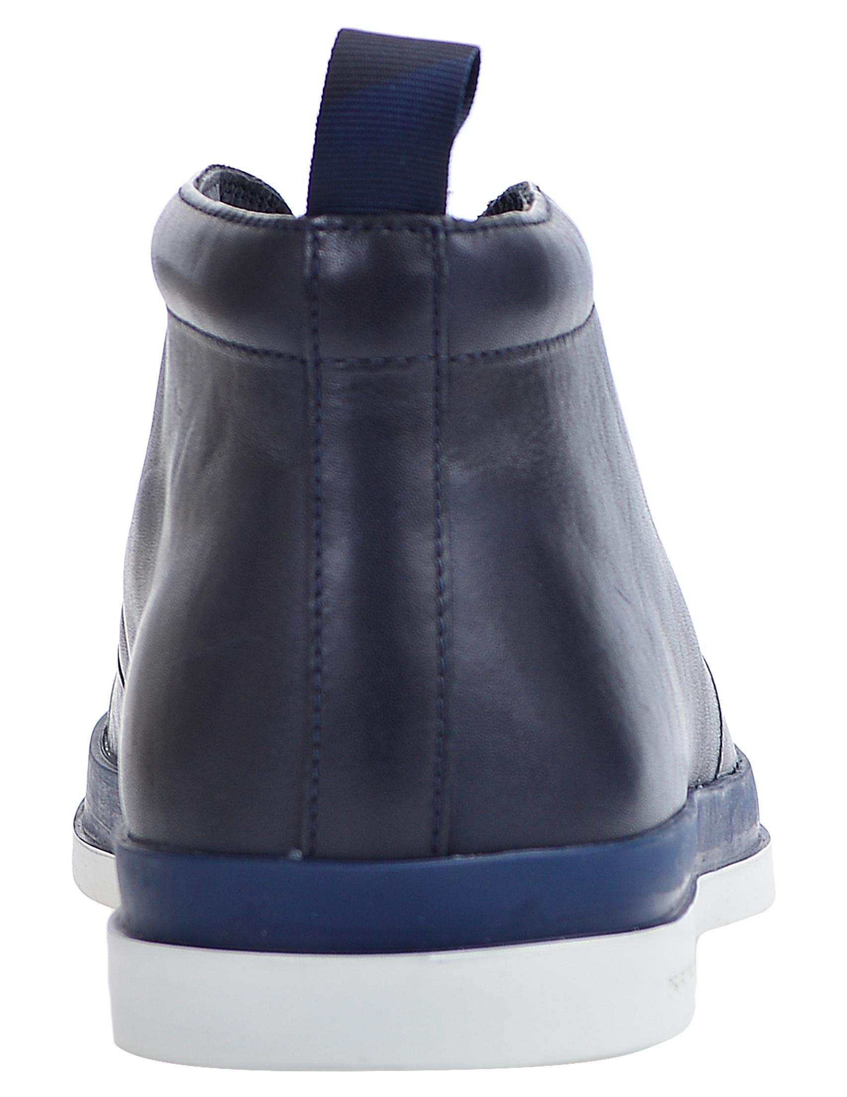 Фото 4 - мужские ботинки и полуботинки  синего цвета