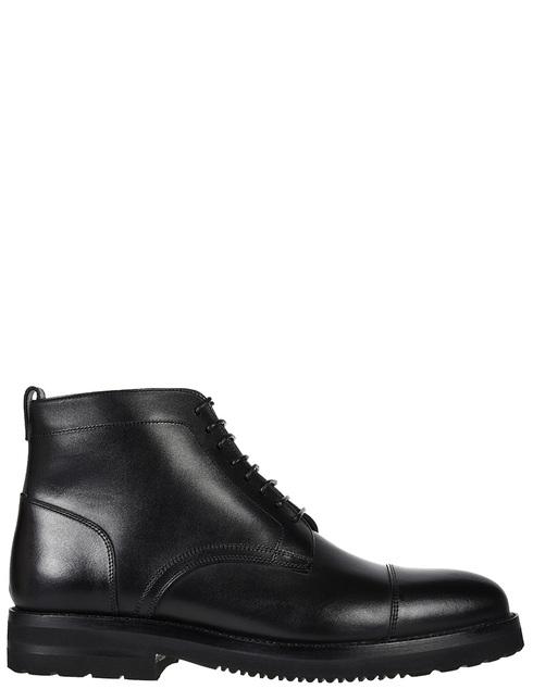 мужские черные кожаные Ботинки Franceschetti 0128019 - фото-5