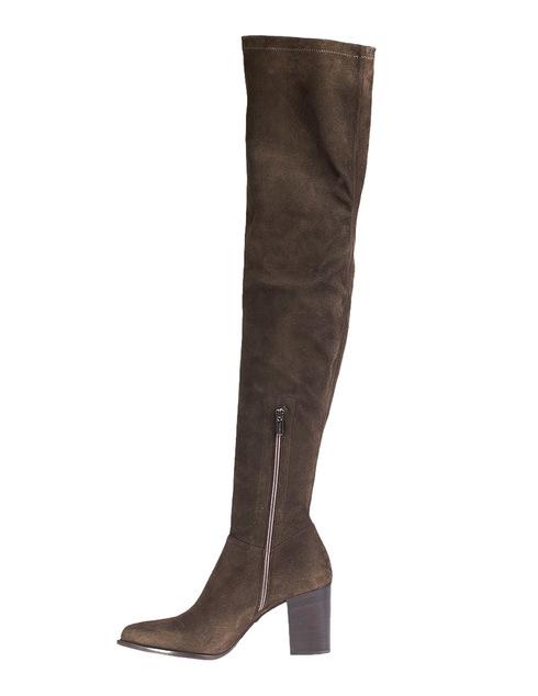 женские коричневые Ботфорты Le Silla 89968_brown - фото-2