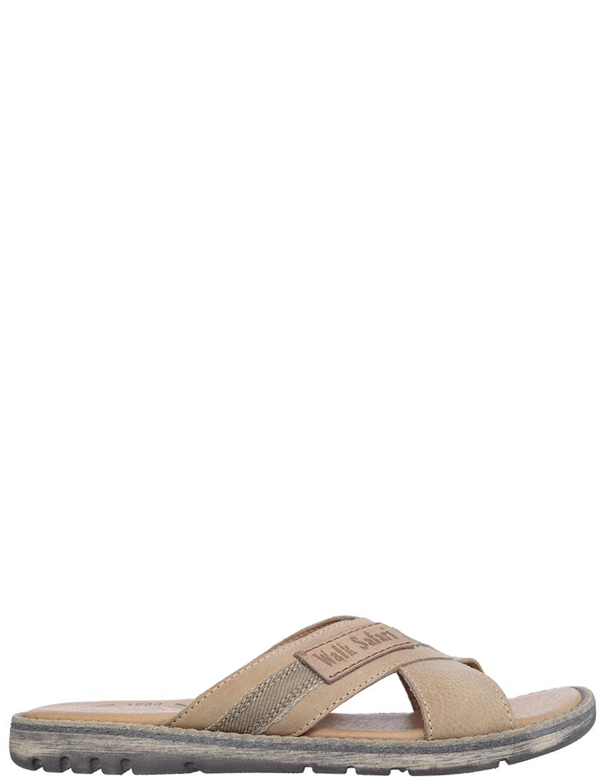 Детские шлепанцы для мальчиков Walk Safari F52242A-biege