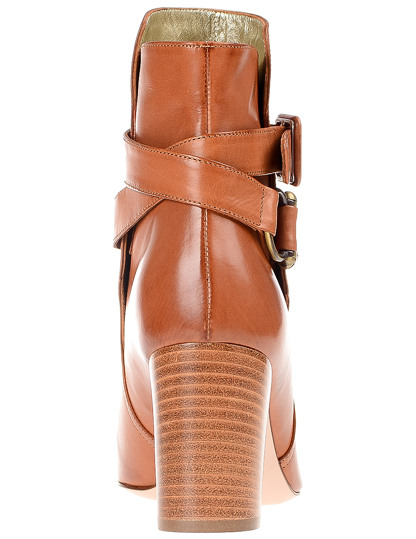 Фото 2 - женские ботильоны  коричневого цвета