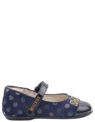 Детские туфли для девочек MOSCHINO 25352-blue