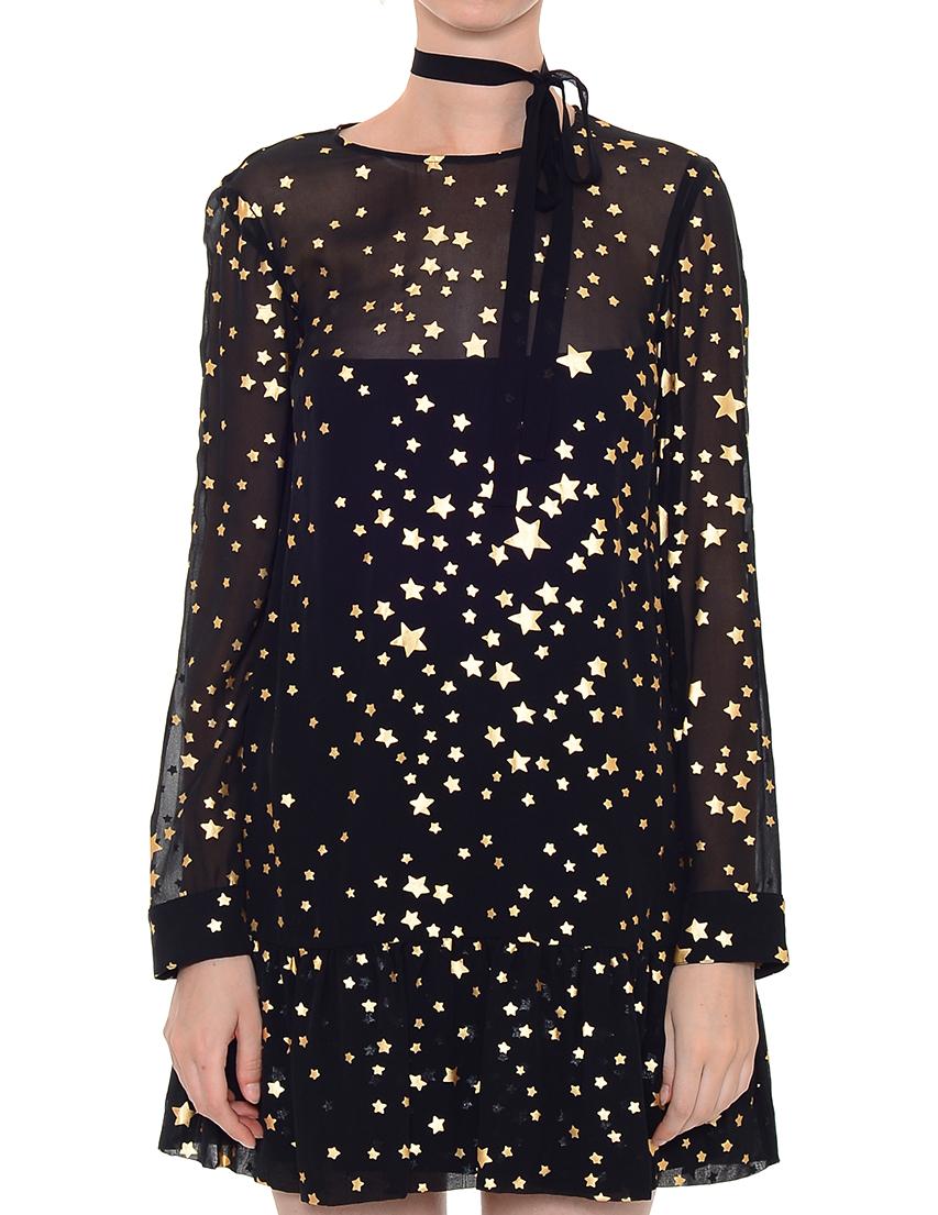 Купить Платье, RED VALENTINO, Черный, 100%Полиэстер, Осень-Зима
