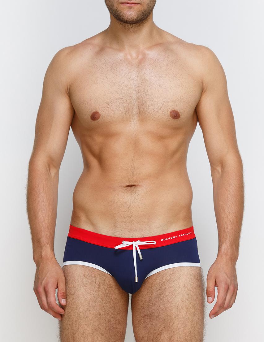 Мужские плавки пляжные GARCON FRANCAIS Slip-de-Bain17-Tricolore_blue