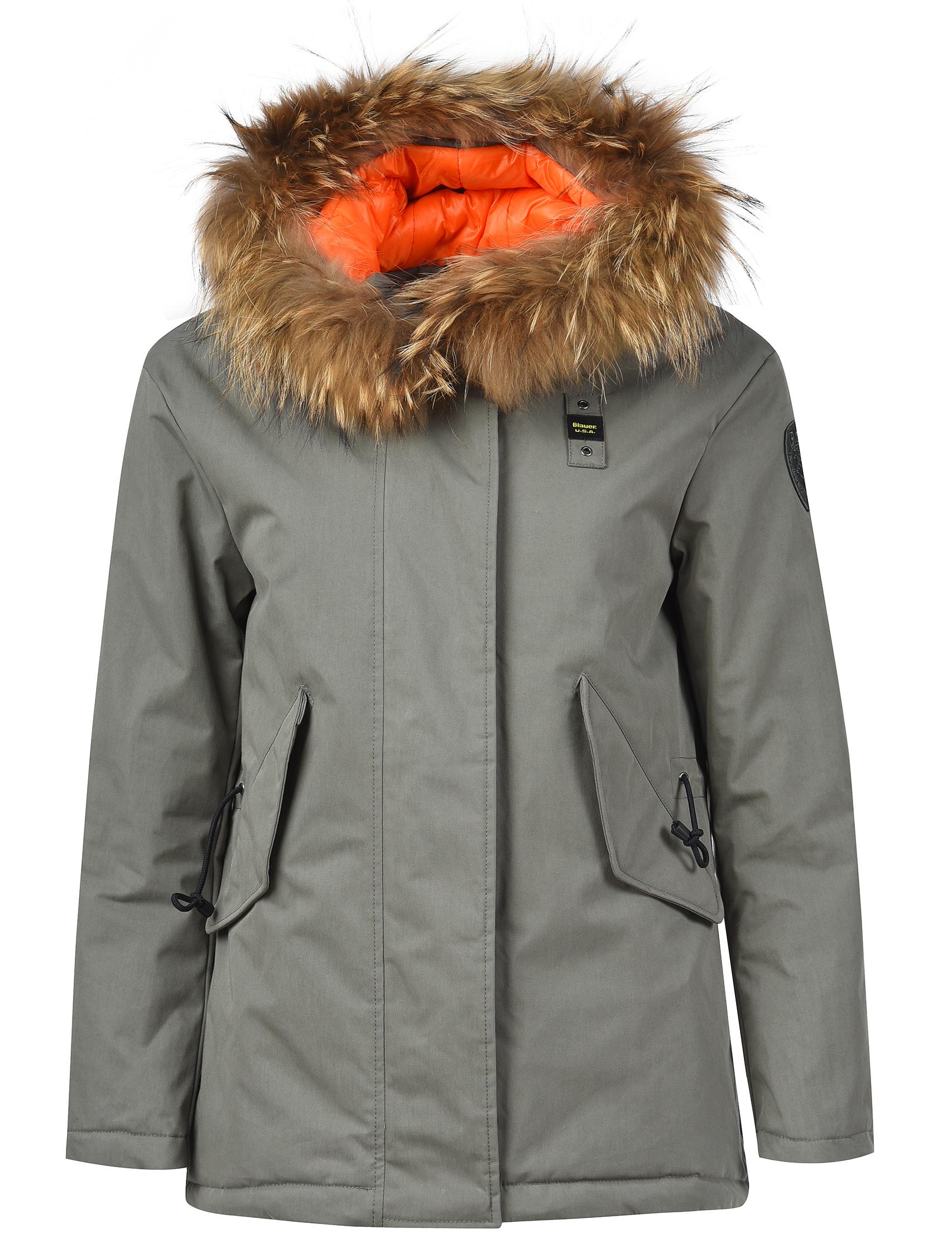 Купить Куртка, BLAUER, Зеленый, 67%Полиэстер 21%Хлопок 12%Полиамид;100%Полиэстер, Осень-Зима
