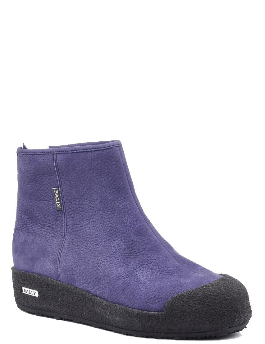 Купить Ботинки, BALLY, Фиолетовый, Осень-Зима
