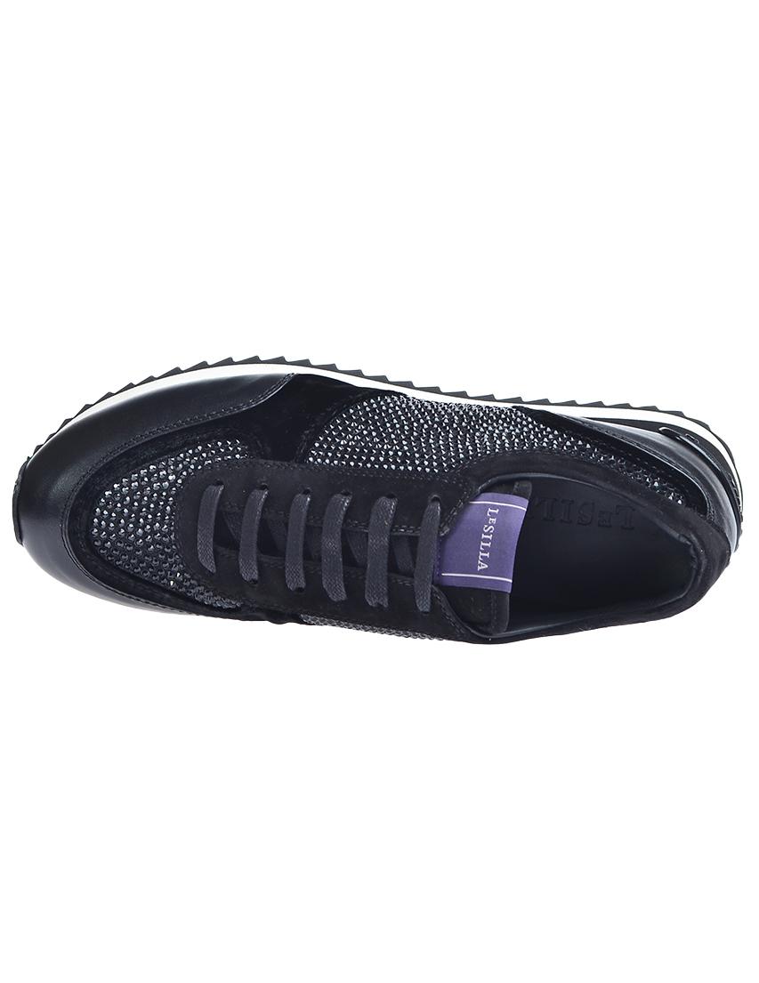 Фото 6 - женские кроссовки  черного цвета