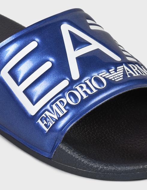 мужские синие резиновые Шлепанцы Ea7 Emporio Armani XCP001XCC22-D959 - фото-5
