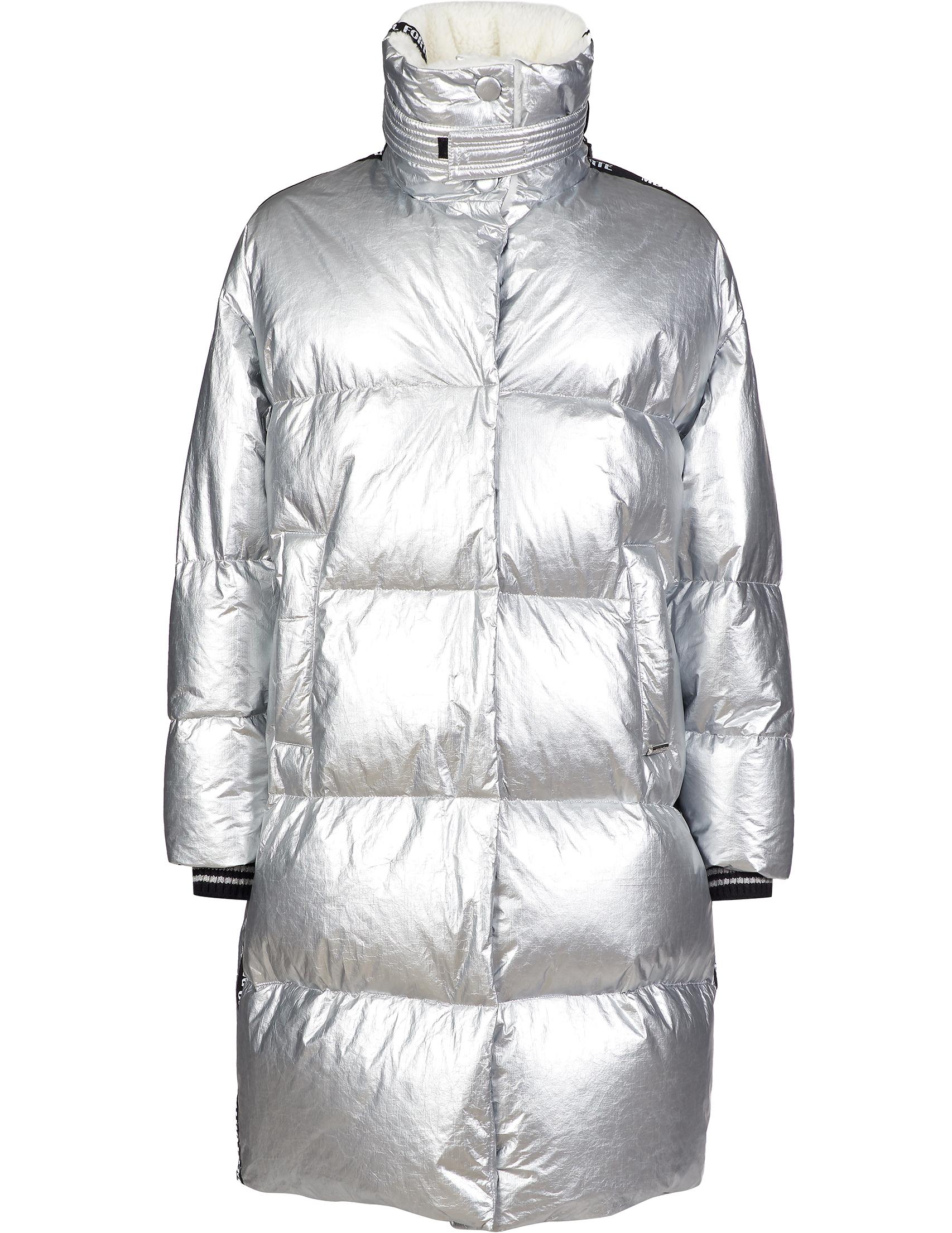 Купить Куртки, Куртка, MARCO DEL FORTE, Серебряный, 100%Полиэтиленовое волокно;100%Полиэстер;80%Модифицированный акрил 20%Полиэстер, Осень-Зима