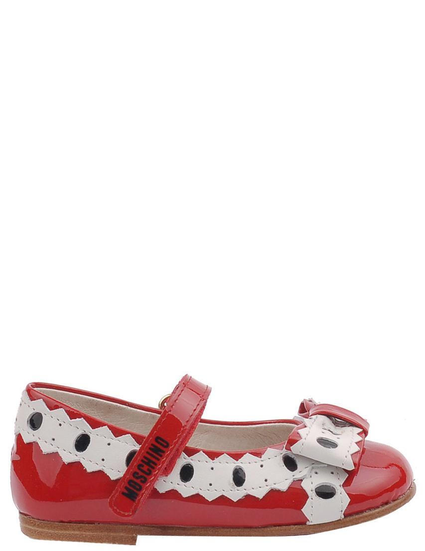 Детские туфли для девочек MOSCHINO 25355-red