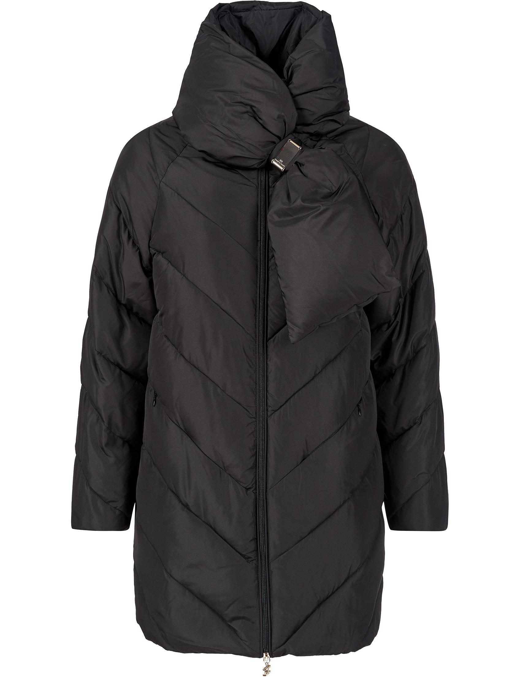 Купить Куртки, Куртка, ELISABETTA FRANCHI, Черный, 100%Полиэстер, Осень-Зима