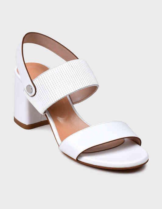 женские белые Босоножки Albano 4159-К-white - фото-2