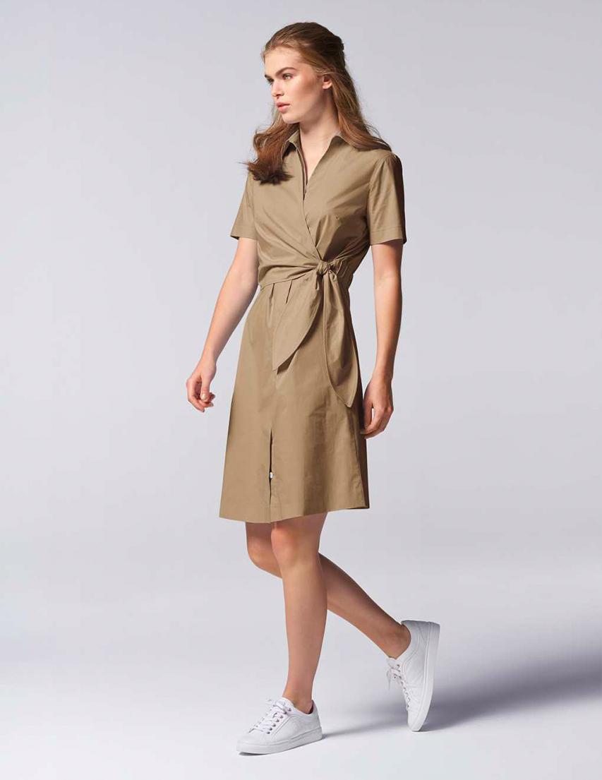 Купить Платье, BOGNER, Бежевый, 96%Хлопок 4%Эластан, Весна-Лето