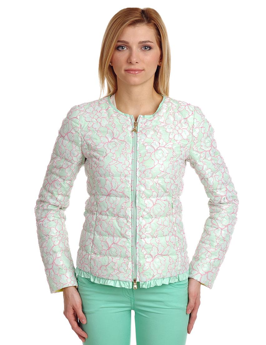 Купить Куртка, PATRIZIA PEPE, Зеленый, 10%Перо 90%Пух, Весна-Лето