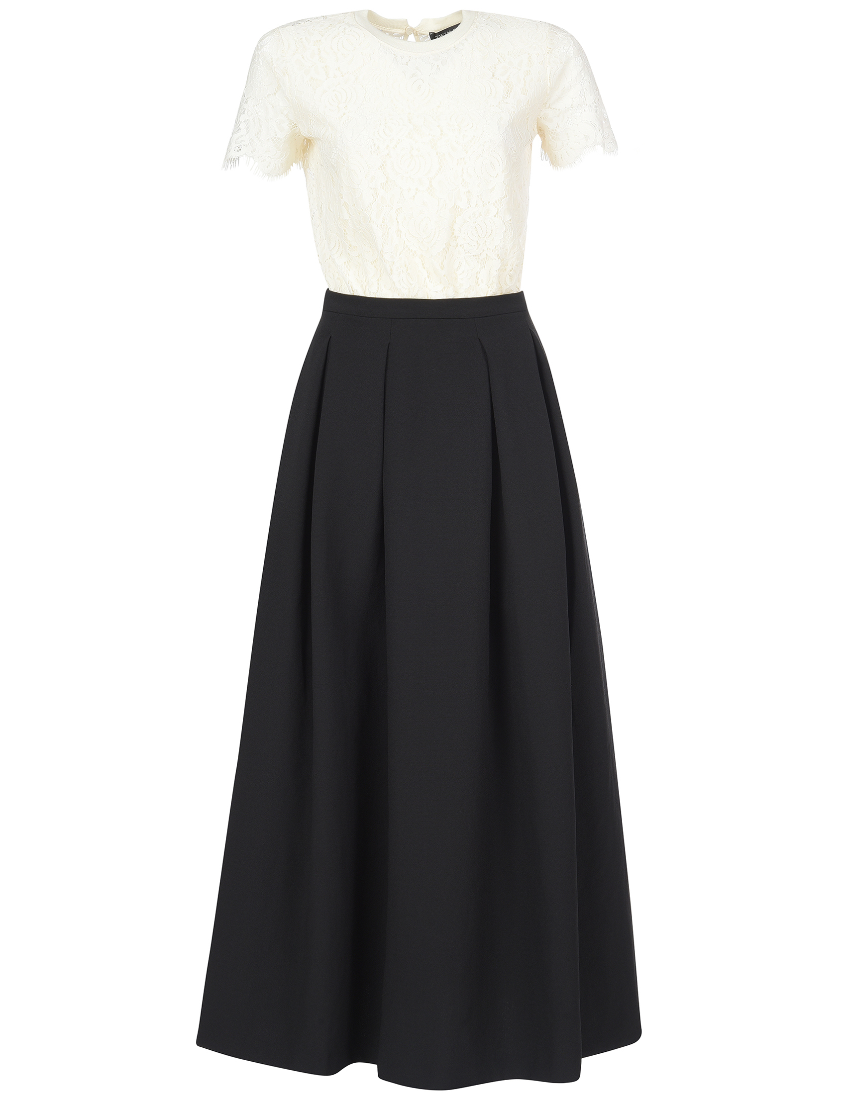 Купить Платье, TWIN-SET, Черный, 100%Полиэстер;61%Хлопок 23%Полиамид 16%Эластан, Осень-Зима