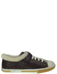 Детские кроссовки для мальчиков PRADA PRA418_brownD