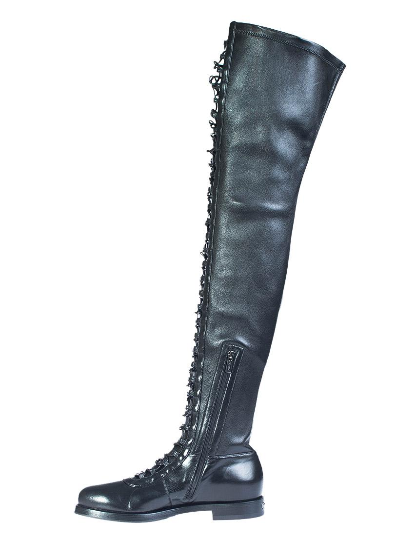 Фото 4 - женские сапоги  черного цвета