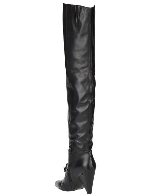 черные женские Ботфорты H'estia Venezia 9624_black 11480 грн