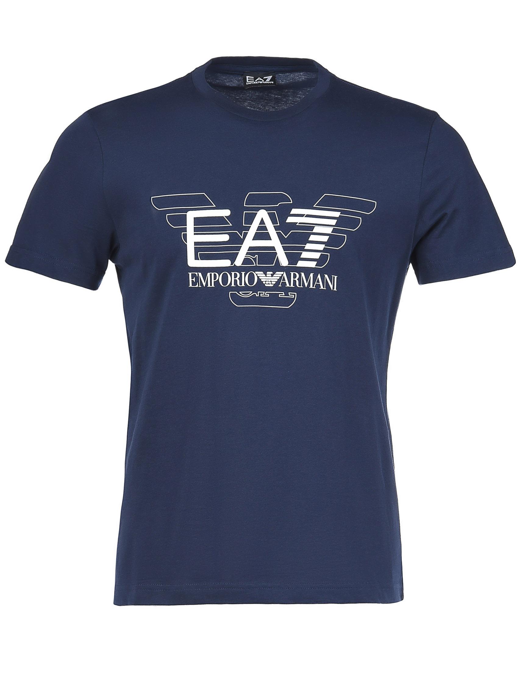 Купить Футболка, EA7 EMPORIO ARMANI, Синий, 100%Хлопок, Осень-Зима
