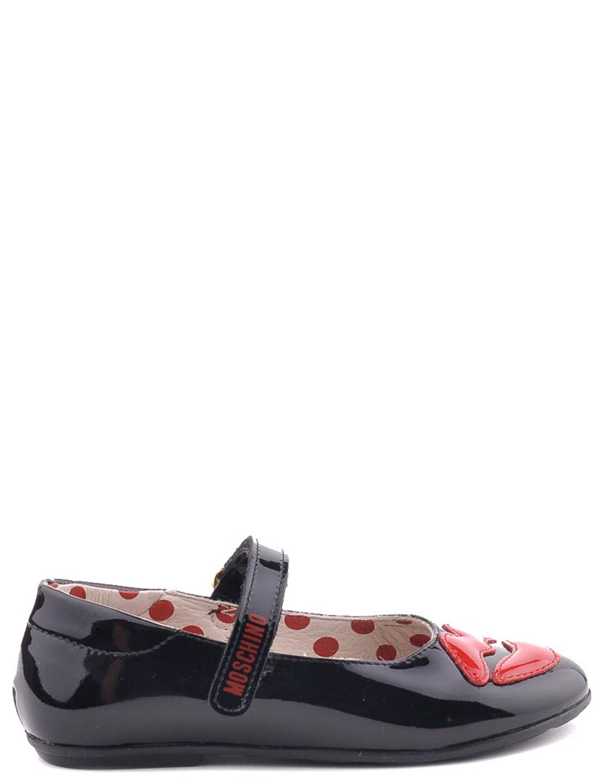 Детские туфли для девочек MOSCHINO 25353black
