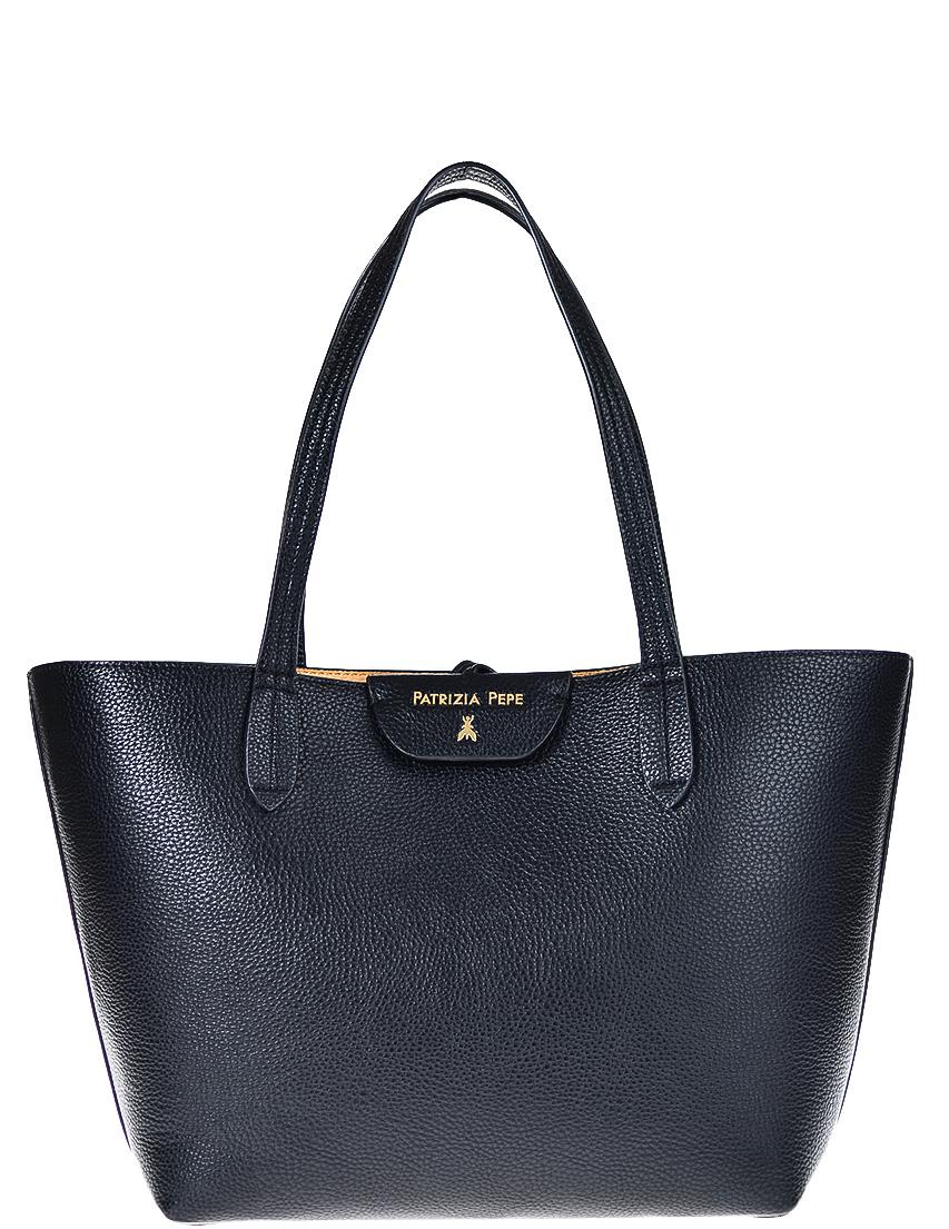 Купить Женские сумки, Сумка, PATRIZIA PEPE, Черный, 100%Кожа, Осень-Зима