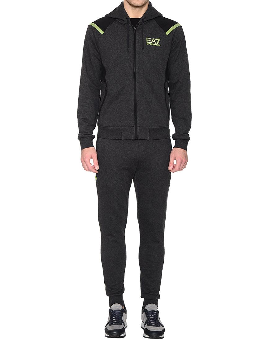 Купить Спортивный костюм, EA7 EMPORIO ARMANI, Серый, 97%Хлопок 3%Эластан, Осень-Зима