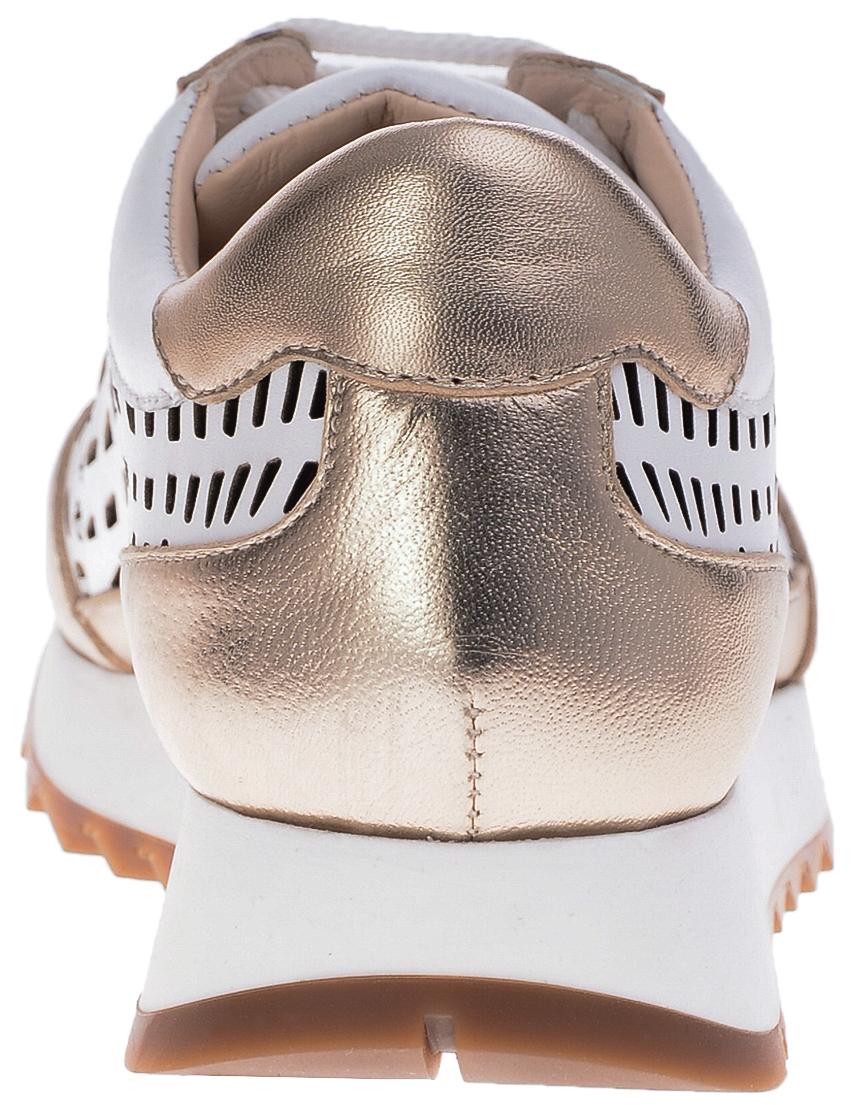 Кроссовки кожаные золотые LORIBLU (ITALY)