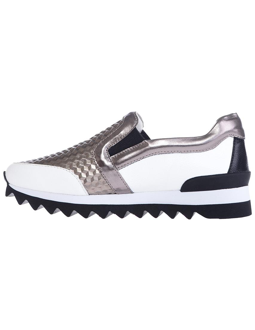 Кожаные белые кроссовки LOGAN (ITALY)