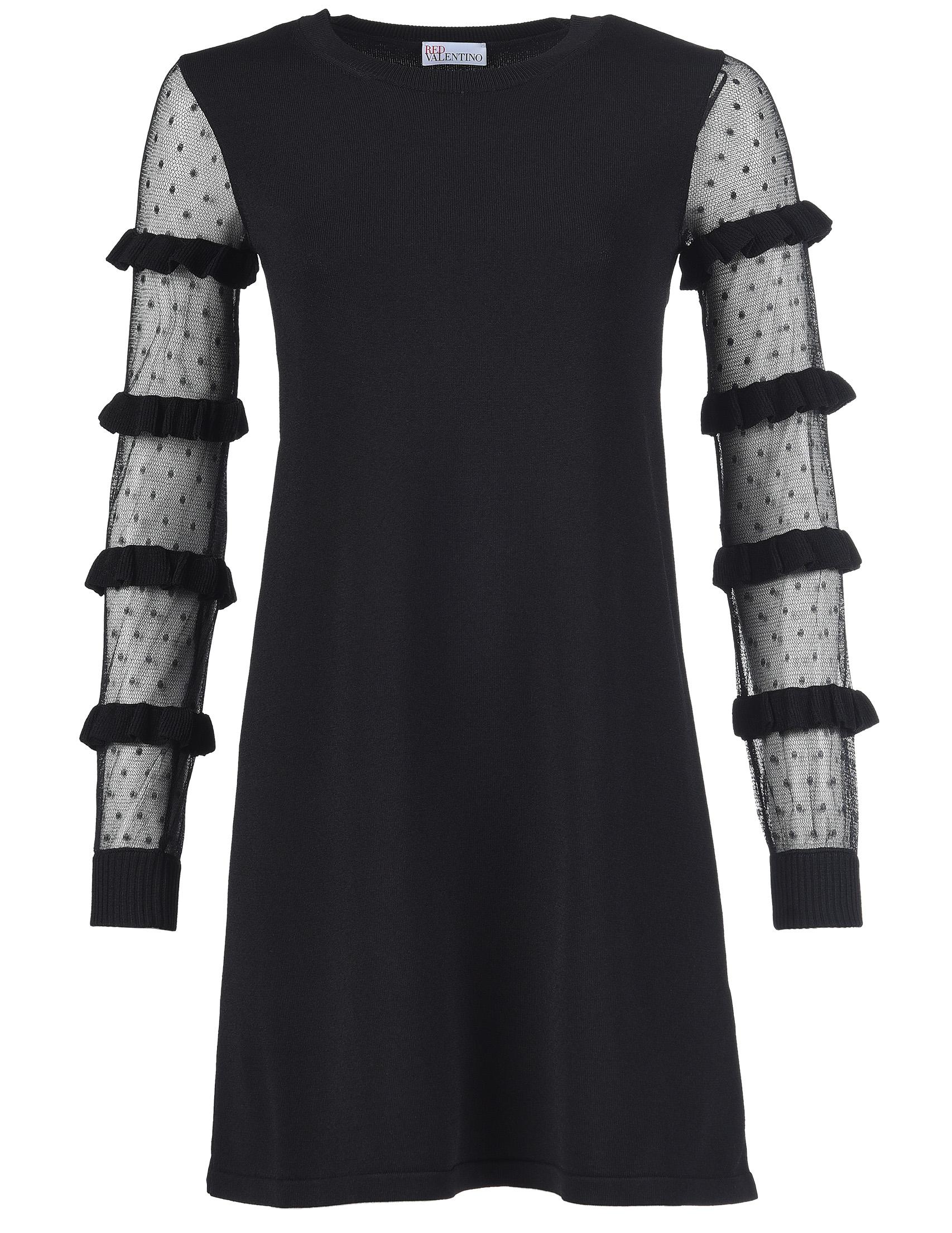 Купить Платье, RED VALENTINO, Черный, 75%Вискоза 25%Полиамид;100%Полиамид, Осень-Зима