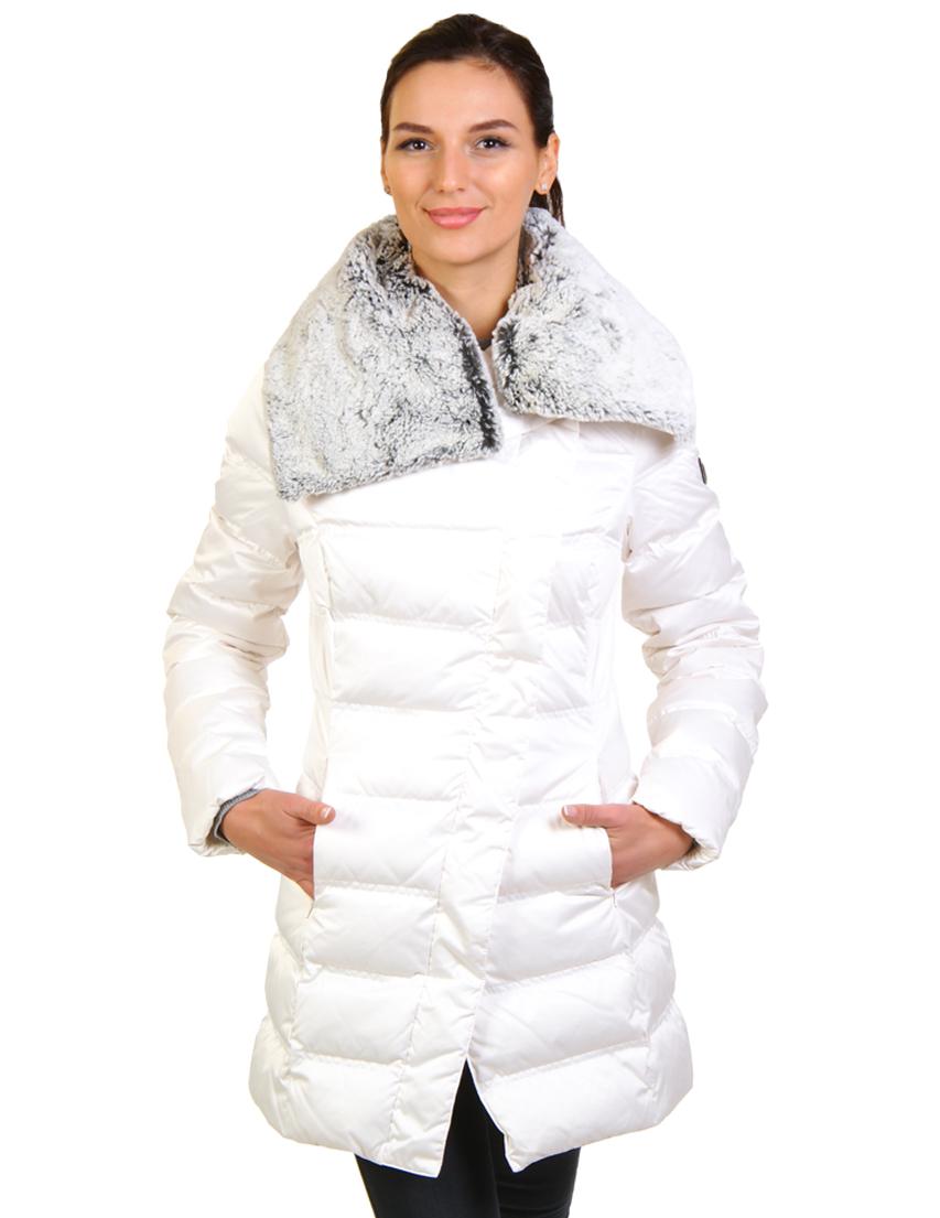 Купить Пуховик, EA7 EMPORIO ARMANI, Белый, 20%Перо 80%Пух, Осень-Зима