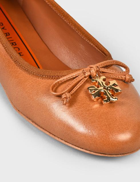 женские коричневые кожаные Балетки Tory Burch 71838-240 - фото-5